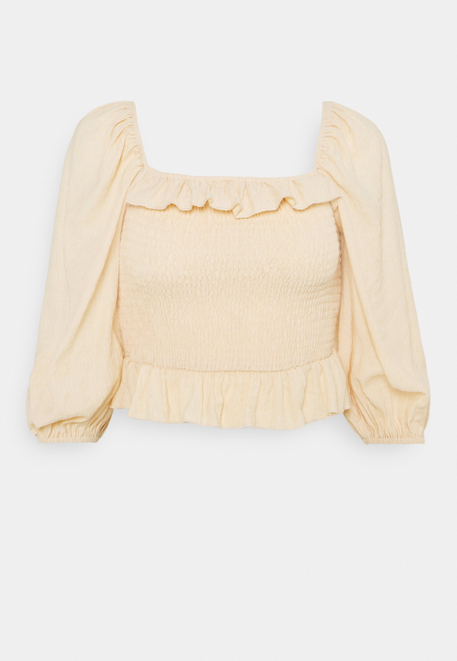 Women FRILL DETAIL SHIRRED  - Long sleeved top