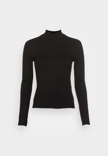 ELLE HIGH NECK - Topper langermet - black