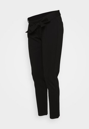 PCMBEATE TIE PANTS - Bukse - black