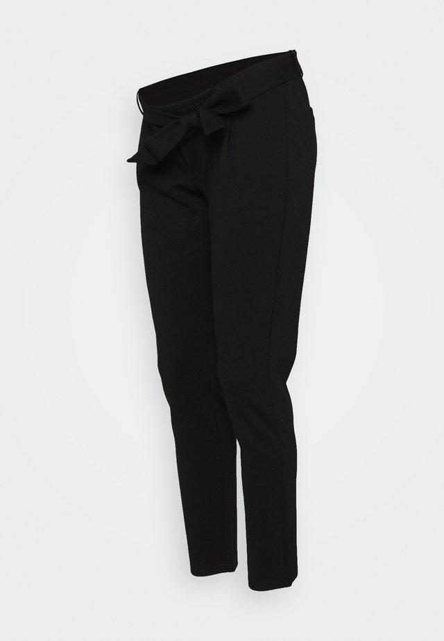 PCMBEATE TIE PANTS - Bukse - black