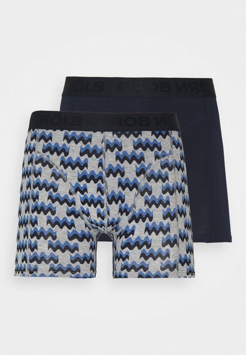 Björn Borg - WAYWAVE SAMMY 2 PACK - Underkläder - light grey melange