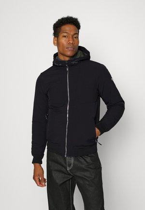 HOODED STRETCH JACKET - Light jacket - black