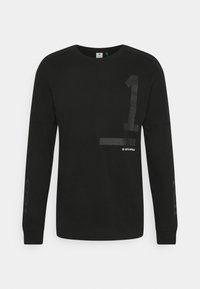 G-Star - NUMBERS GRAPHIC - Long sleeved top - dry jersey o - dk black - 0