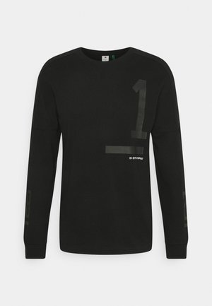 NUMBERS GRAPHIC - Long sleeved top - dry jersey o - dk black