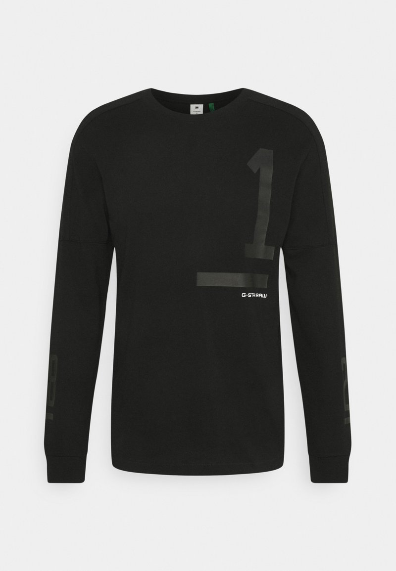 G-Star - NUMBERS GRAPHIC - Long sleeved top - dry jersey o - dk black