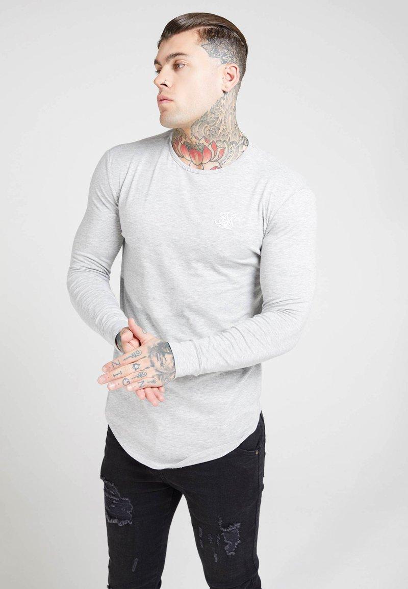SIKSILK - GYM TEE - Long sleeved top - grey marl