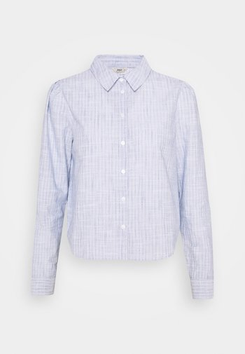 ONLLORRY LIFE STRIPE - Button-down blouse - white