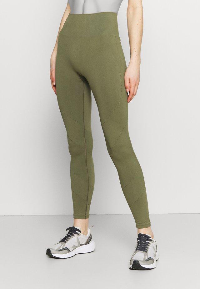 Punčochy - khaki green