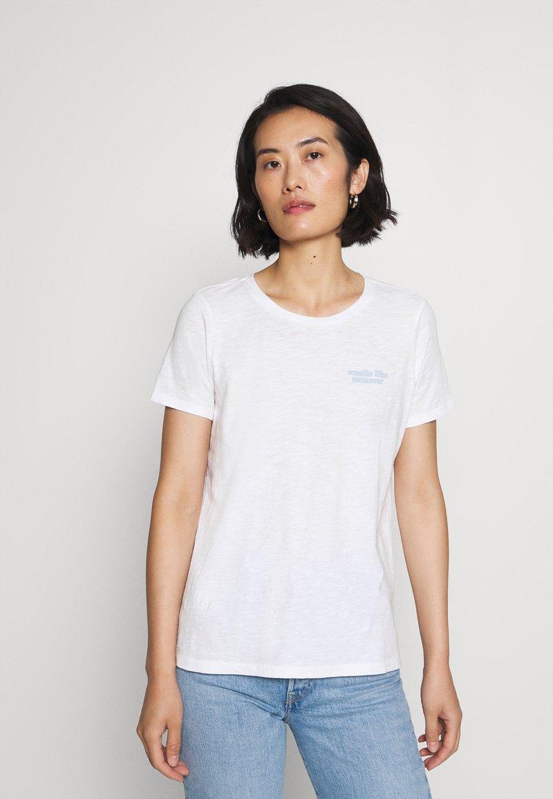 Marc O'Polo - SHORT SLEEVE ROUND NECK - Print T-shirt - multi/white