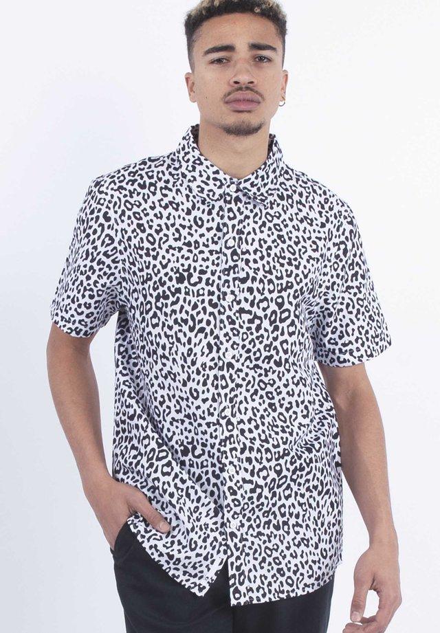LEOPARD - Shirt - blk/wht