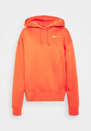 HOODIE TREND - Luvtröja - mantra orange/white