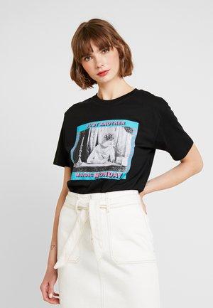 LADIES MAGIC MONDAY TEE - Print T-shirt - black