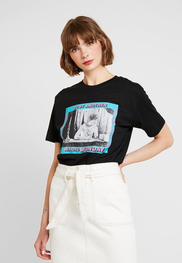 LADIES MAGIC MONDAY TEE - T-shirt print - black