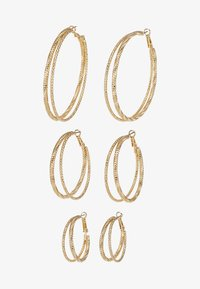 Missguided - DOUBLE HOOP 3 PACK - Earrings - gold-coloured - 3