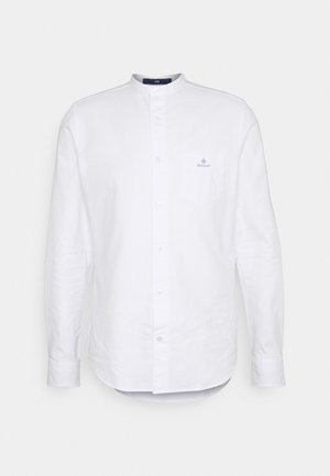 SLIM BRUSHED BAND COLLAR - Skjorta - white