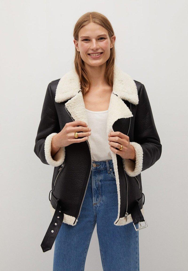 Mango - ADRI-I - Light jacket - schwarz