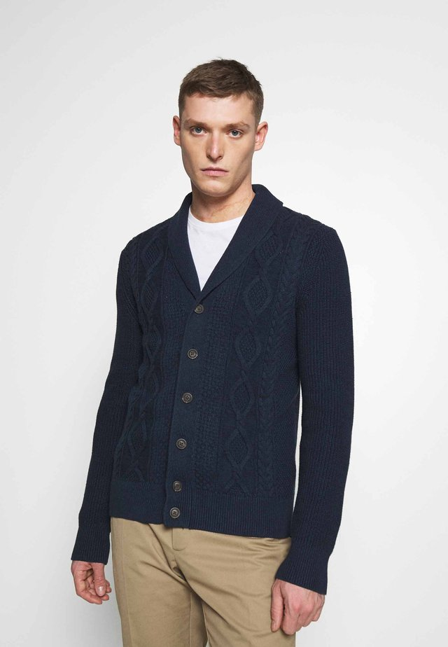 CABLE - Cardigan - navy