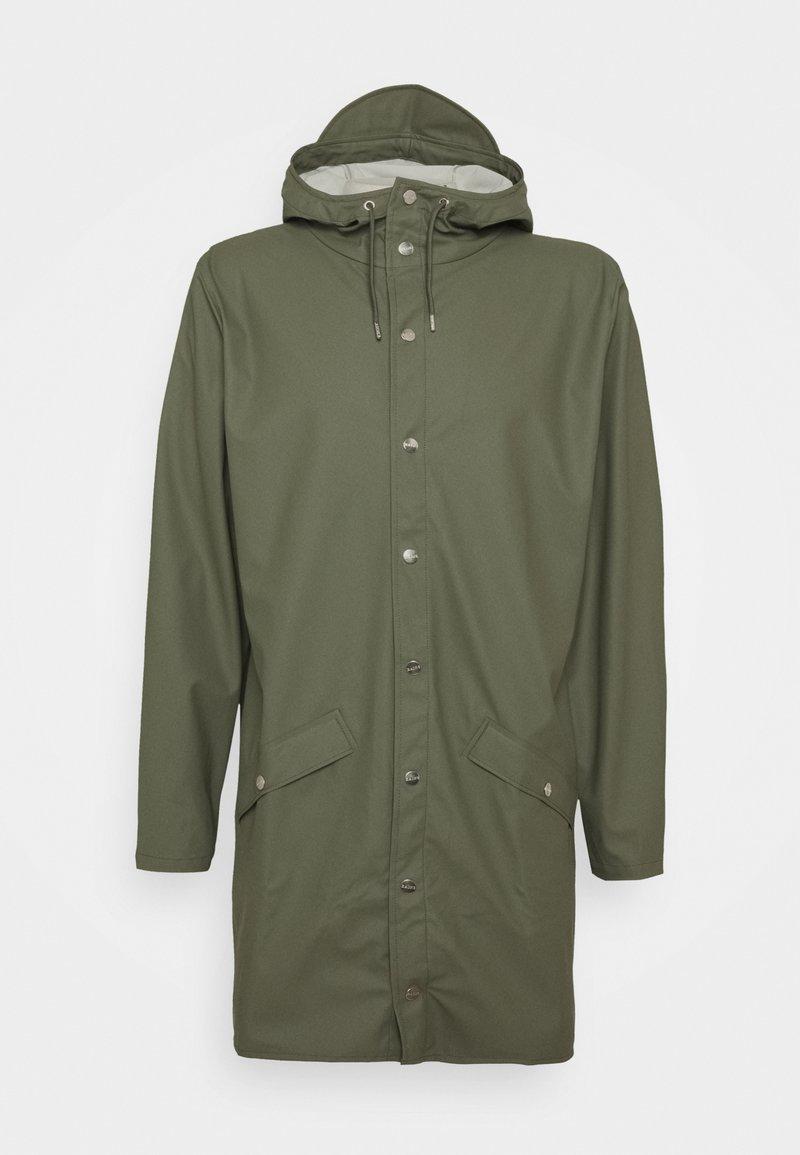 Rains - LONG JACKET UNISEX - Waterproof jacket - olive