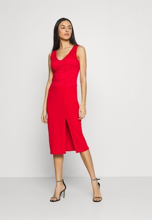 BRINLEY MIDI DRESS - Jersey dress - red