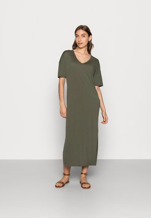 ABBIE DRESS - Žerzejové šaty - army green
