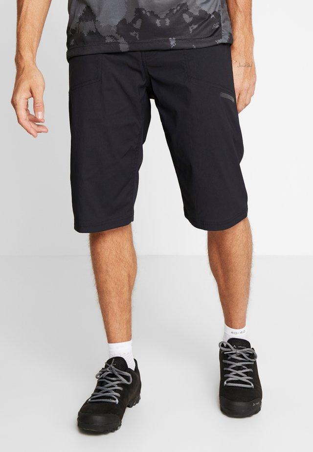 SUMMIT SHORTS WITH PAD - Sports shorts - black
