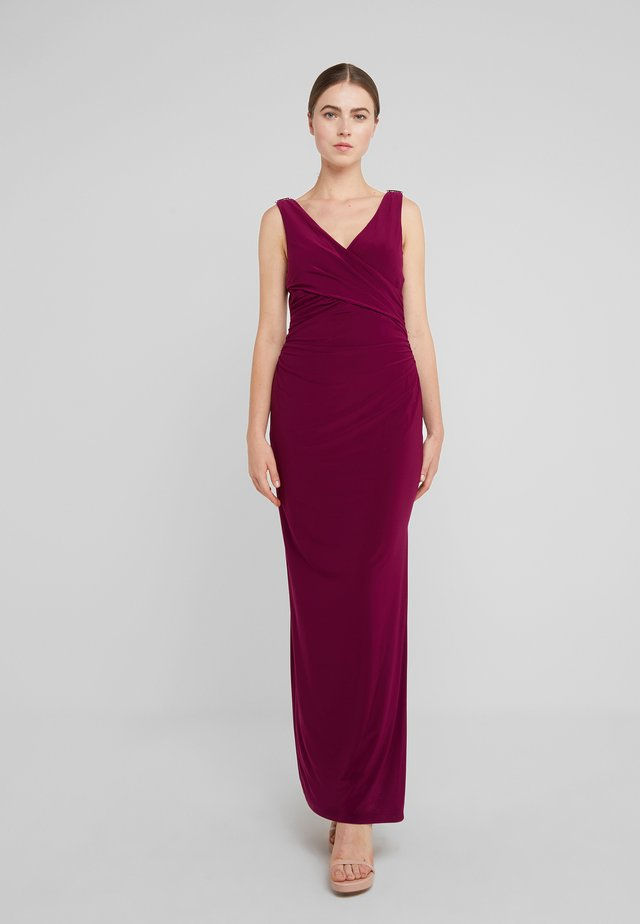 MATTE JARLANNAH TRIM - Maxi dress - exotic ruby