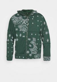 Jaded London - CUT AND SEW BANDANA HOODIE - Zip-up sweatshirt - green - 3