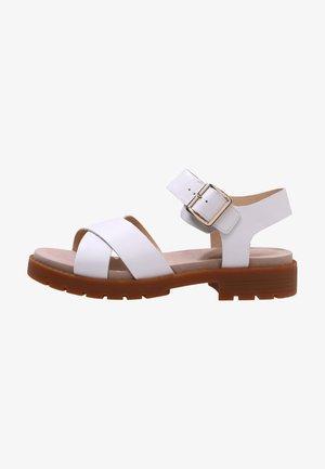 Sandals - weißes leder