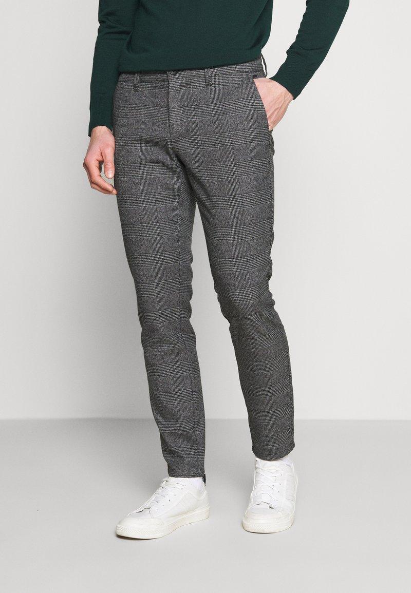 Only & Sons - ONSMARK PANTS CHECK - Pantalones - medium grey melange