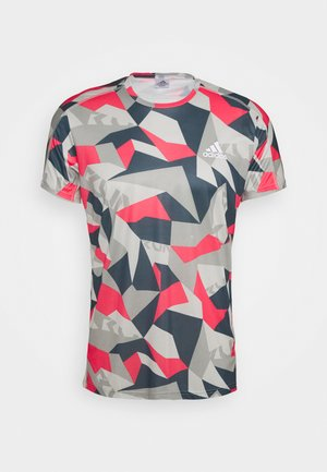 RESPONSE PRIMEGREEN RUNNING SHORT SLEEVE TEE - Camiseta estampada - grey/pink