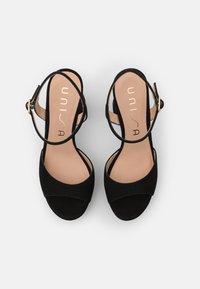 Unisa - VEGARA - Platform sandals - black - 5