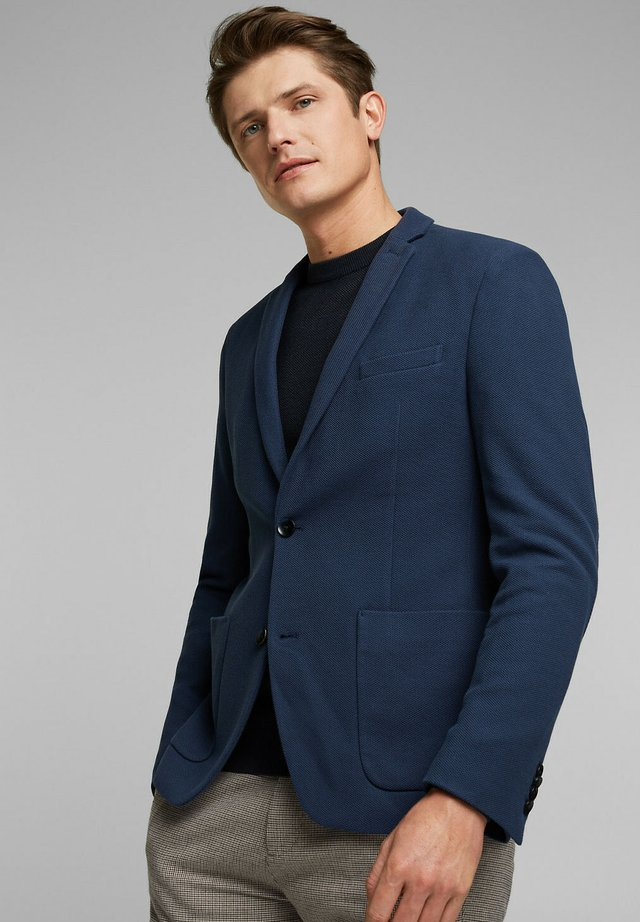 HONEYCOMB - Blazer - grey blue