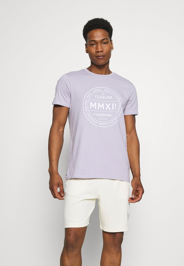 LOGO EMBLEM TEA - T-shirt print - lilac