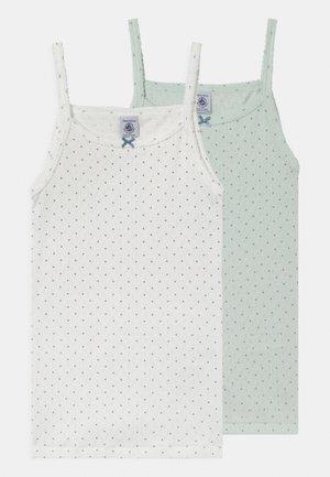 2 PACK - Undershirt - white/light green