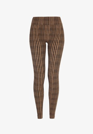 HOUNDSTOOTH  - Legging - black/camel