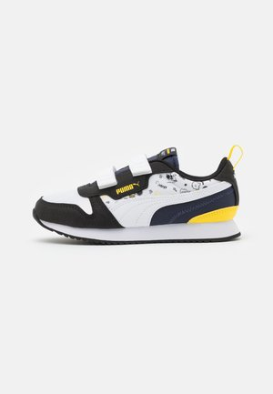 PEANUTS PUMA R78 UNISEX - Zapatillas - black/white/peacoat