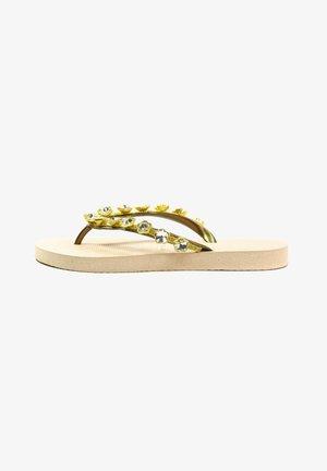 CHRYSTAL FLOWER - T-bar sandals - sand