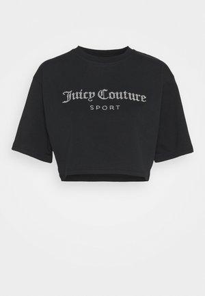 CARLA CROP  - Print T-shirt - black