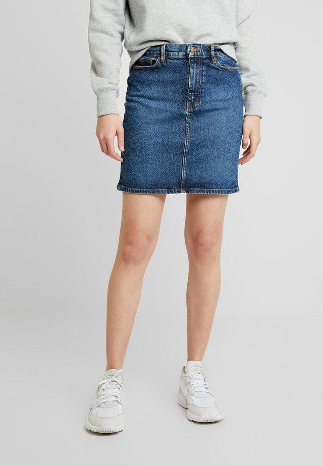 PAMELA SKIRT - Spódnica jeansowa - blue