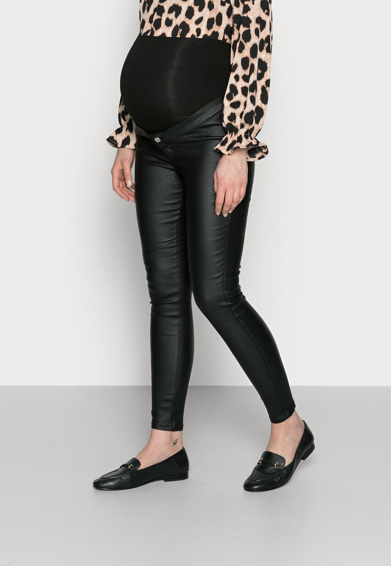 Missguided Maternity - VICE COATED  - Jeans Skinny - black