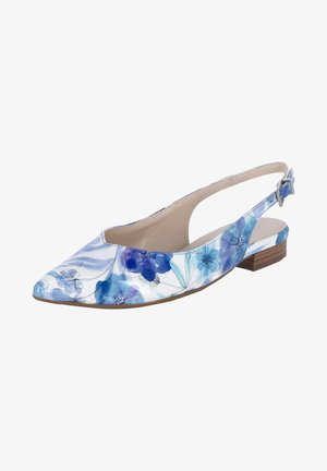 Slingback ballet pumps - weiß - blau