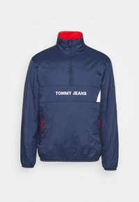 Tommy Jeans - REVERSIBLE RETRO POPOVER - Light jacket - twilight navy - 5