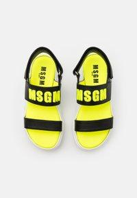 MSGM - Sandals - black/neon yellow - 3