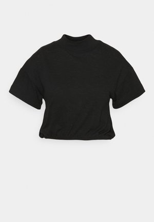 LIFESTYLE MOCK NECK - Basic T-shirt - black