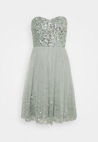 Maya Deluxe - BANDEAU EMBELLISHED DRESS - Cocktail dress / Party dress - soft sage green - 0