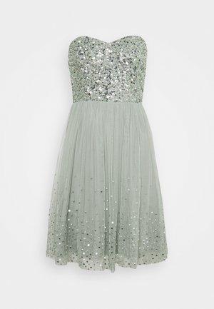 BANDEAU EMBELLISHED DRESS - Vestito elegante - soft sage green