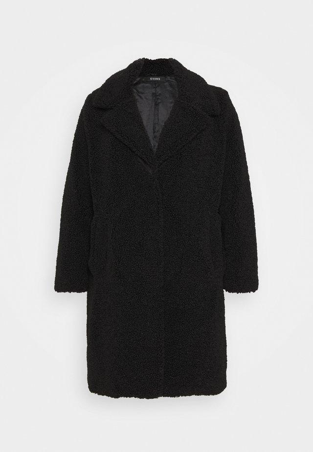 TEDDY COAT - Klasický kabát - black