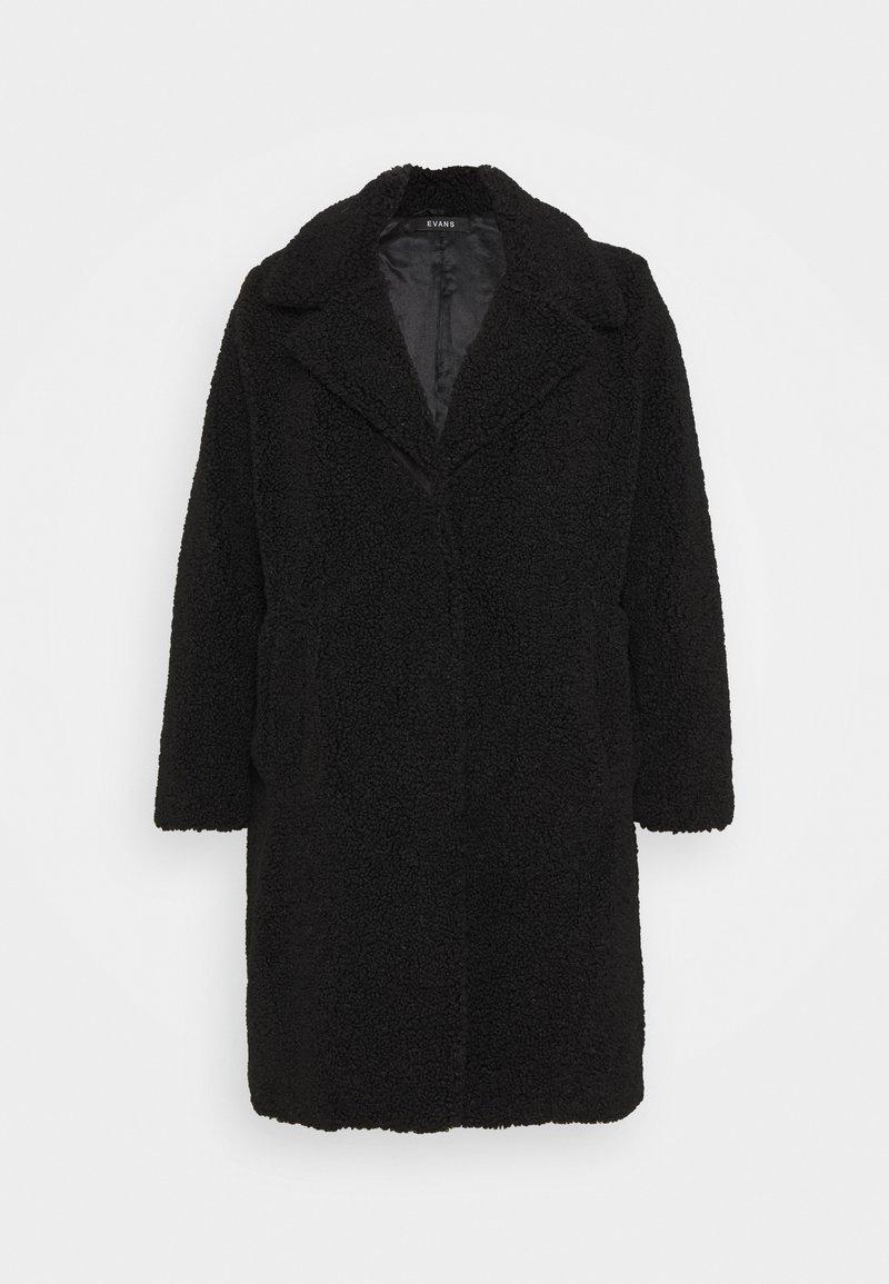 Evans - TEDDY COAT - Classic coat - black