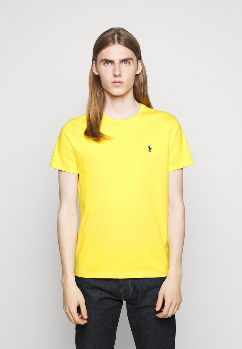 Polo Ralph Lauren - CUSTOM SLIM FIT JERSEY CREWNECK T-SHIRT - Jednoduché triko - racing yellow