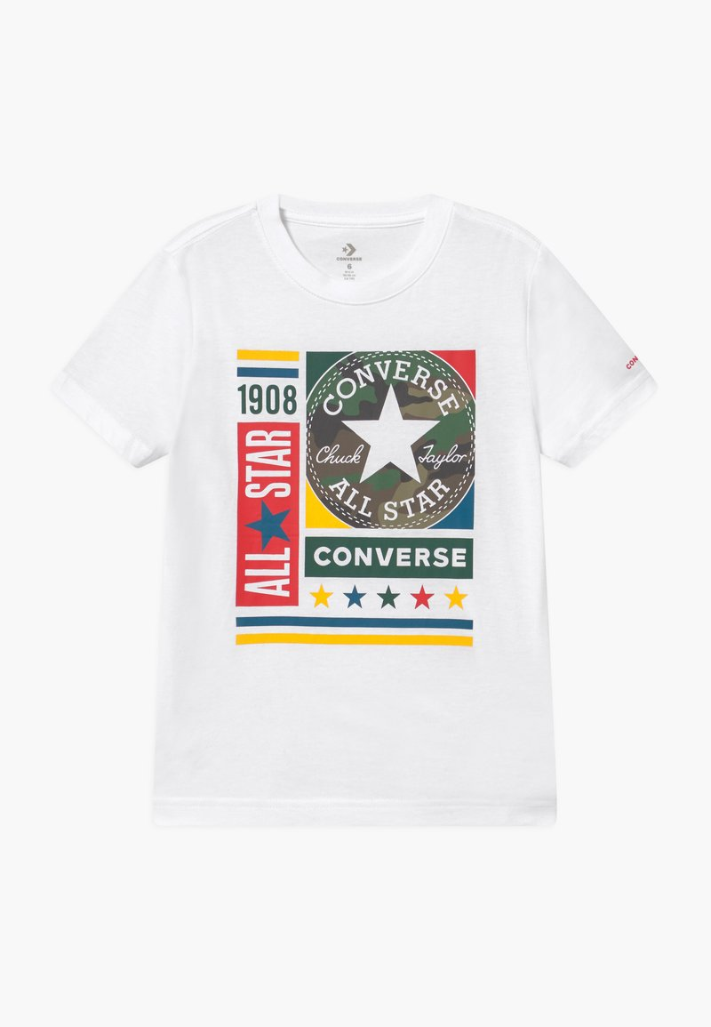 Converse - CAMO MIXED BOXES TEE UNISEX - T-shirt con stampa - white